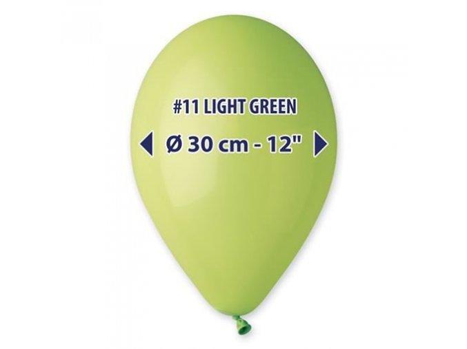 0001616 balonky 30 cm limetkove zelene 100 ks 510