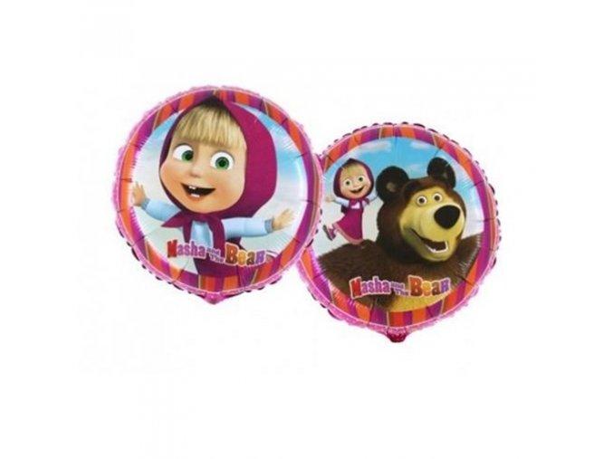 0003323 foliovy balonek masa a medved 45 cm 510