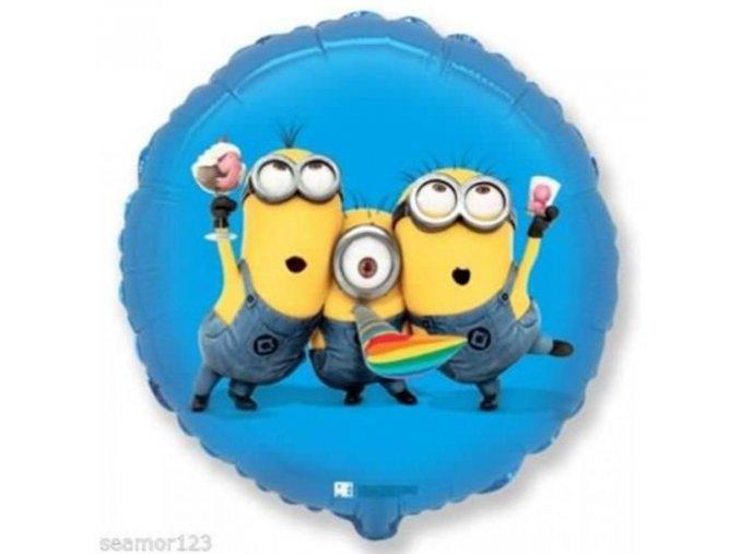 0001955 foliovy balonek mimoni party modra 46 cm 510