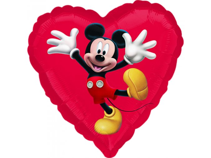 0006117 foliovy balonek srdce mickey 45 cm 510