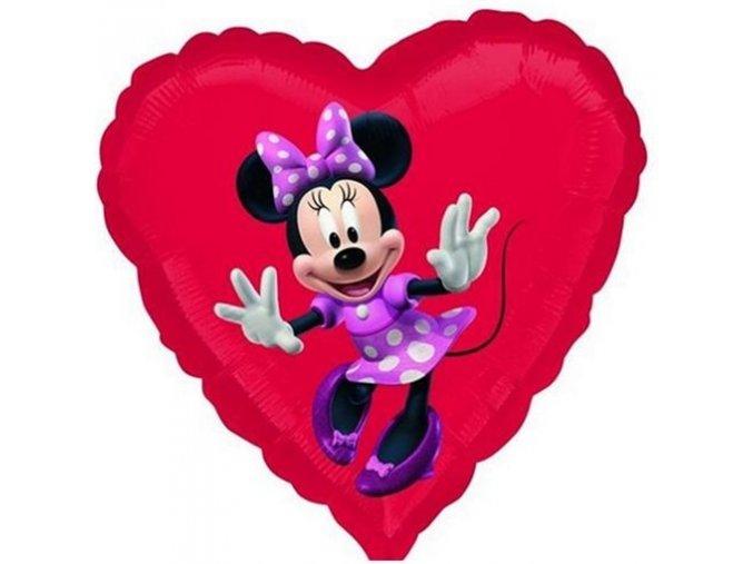 0006118 foliovy balonek srdce minnie 45 cm 510