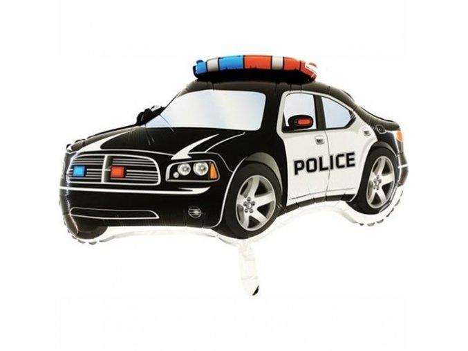 0006106 foliovy balonek policejni auto cerne 80 cm 510