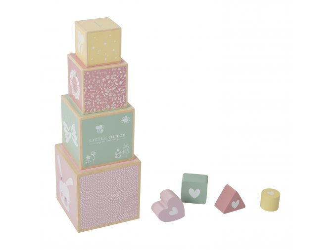 4418 wooden stacking blocks adventure pink 1
