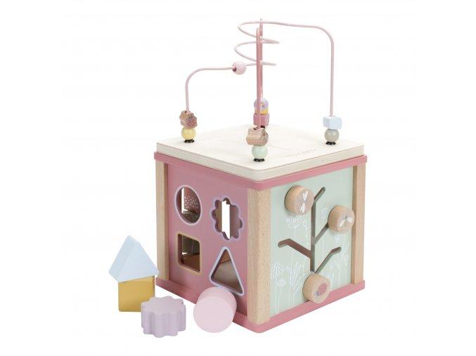 LD4427 LD houten activiteitenkubus roze 1