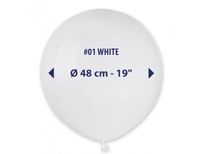 0003132 balonek 48 cm bily 510