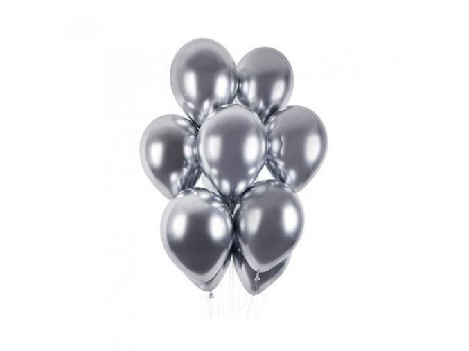 0007978 latexove balonky chrome stribrne 33 cm 50 ks 510