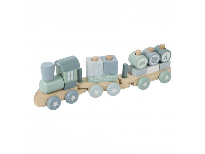 4417 wooden train adventure blue