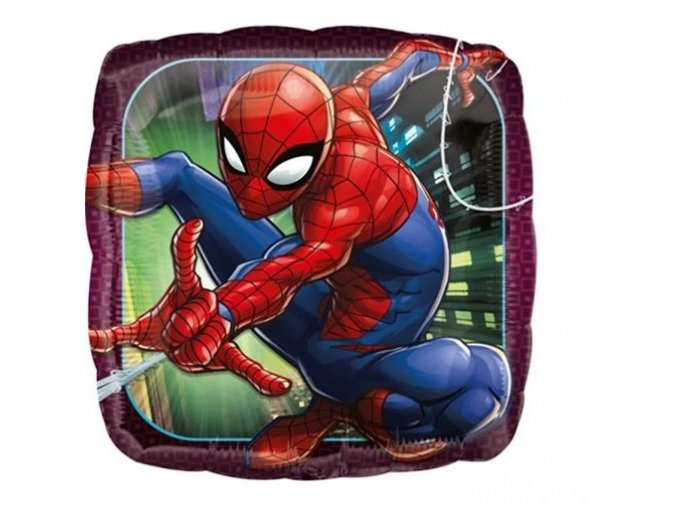 0009207 foliovy balonek ctverec spiderman 43 cm 510