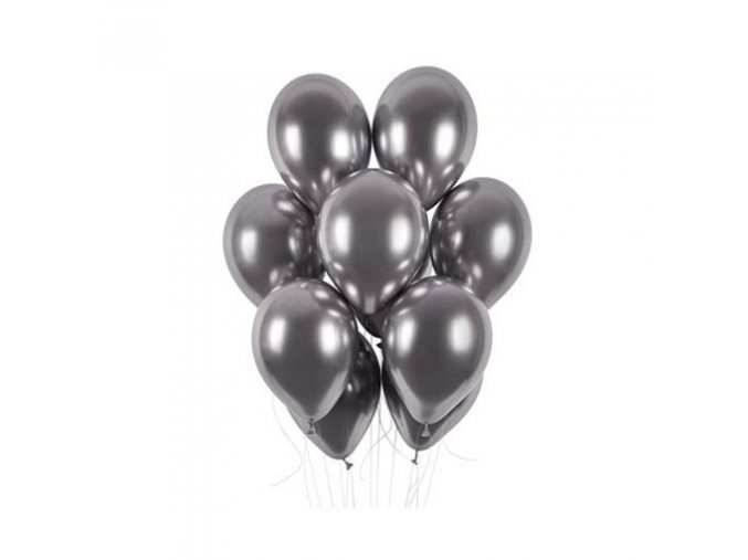 0009083 latexove balonky chrome grafitove 33 cm 50 ks 510