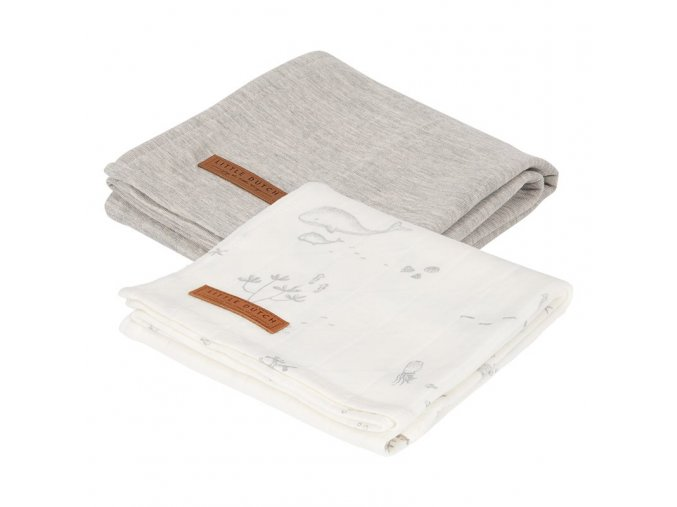 0008040 swaddle doek 70 x 70 ocean white pure grey