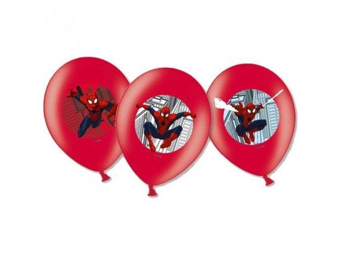 0007281 latexove balonky spiderman barevny potisk 27 cm 6 ks 510