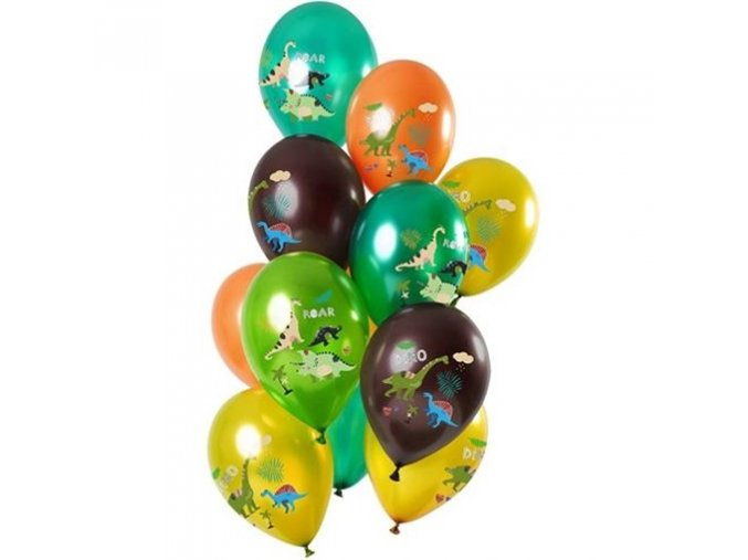 0014371 late ove balonky metalicke dino green 30 cm 12 ks 510