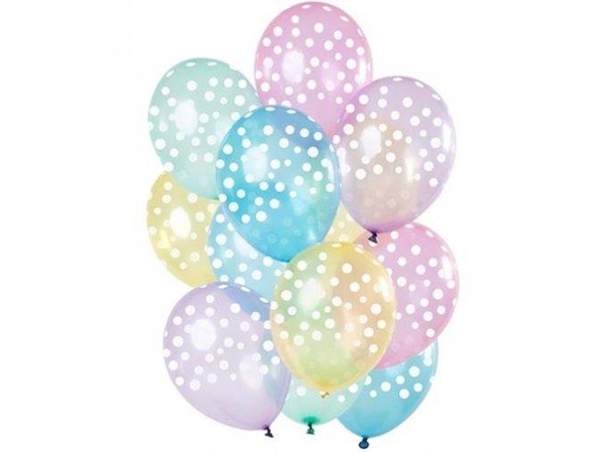 0014367 late ove balonky transparentni s puntiky 30 cm 12 ks 510