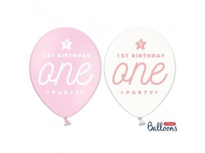 0004202 latexovy balonek 1st birthday one ruzovy 30 cm 510