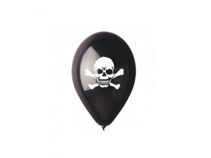 0009702 latexovy balonek piratska lebka cerny 30 cm 510