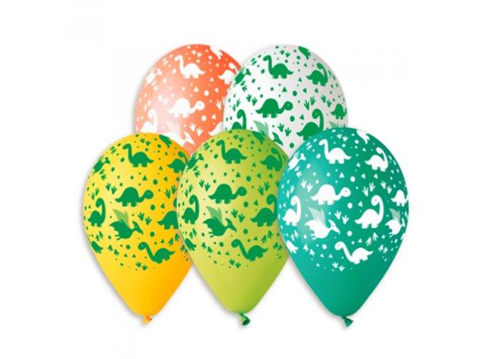 0003842 latexovy balonek s potiskem dinosauri 510