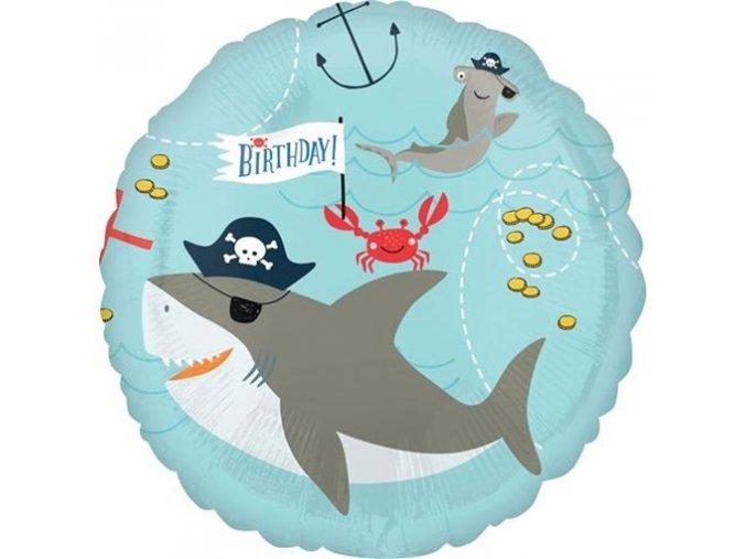 0012355 foliovy balonek piratsky zralok a chobotnice 43 cm 510