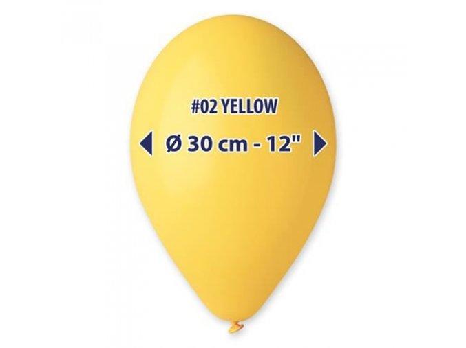 0001610 balonky 30 cm zlute 100 ks 510