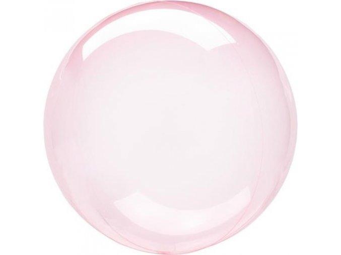 0009754 dekoracni bublina pruhledna ruzova 51 cm 510