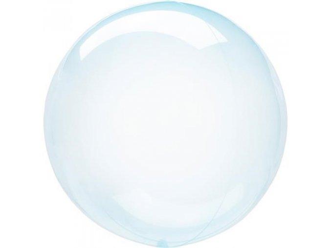 0009835 dekoracni bublina pruhledna modra 51 cm 510
