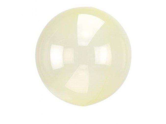 0009253 dekoracni bublina pruhledna zluta 51 cm 510