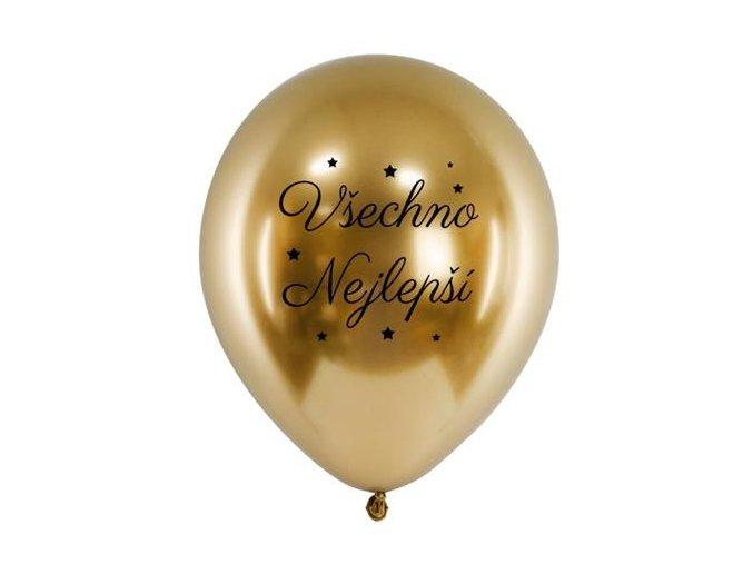 0014800 chromovy balonek vsechno nejlepsi zlaty 33 cm