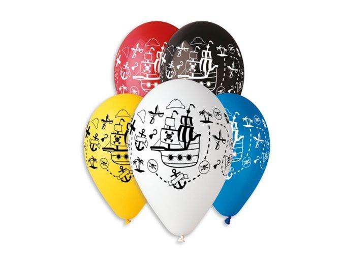 0005740 latexovy balonek s potiskem piratska lod