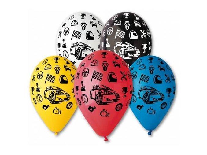 0001776 latexovy balonek s potiskem zavodni auta