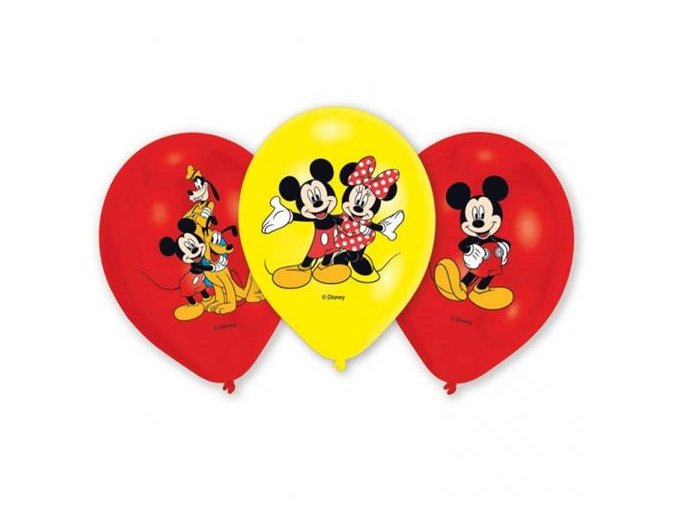 0006135 latexove balonky mickey mouse 6 ks