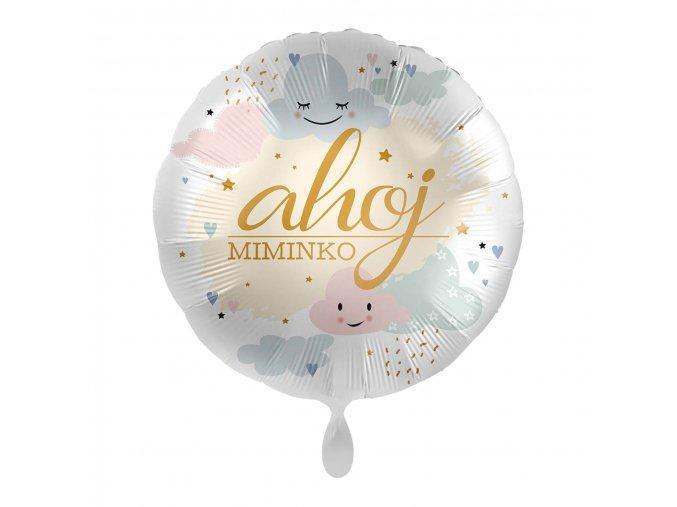 0015728 foliovy balonek ahoj miminko cz 43 cm