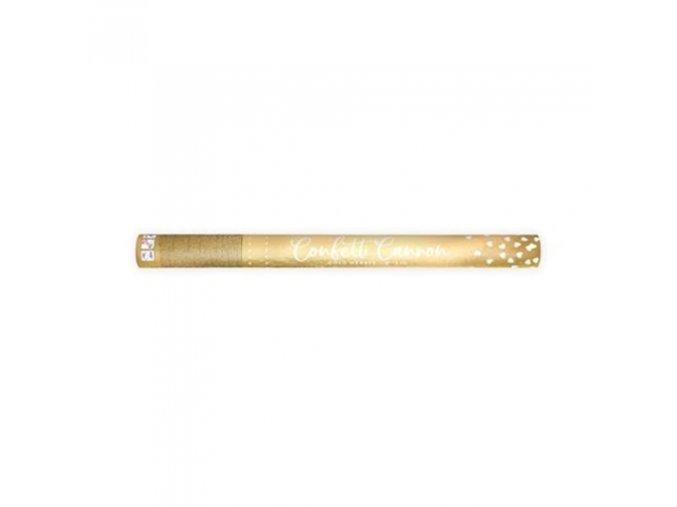 0013704 vystrelovaci konfety metalicka srdicka zlata 60 cm 510