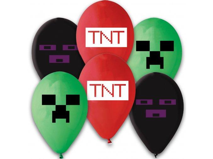 0015920 latexove balonky tnt minecraft 6 ks