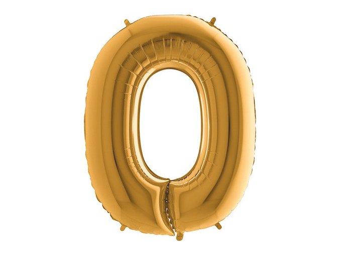 Balon foliove cislo zlate 0