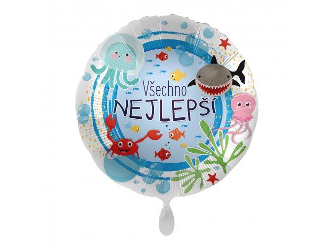 0015751 foliovy balonek vsechno nejlepsi cz more 43cm