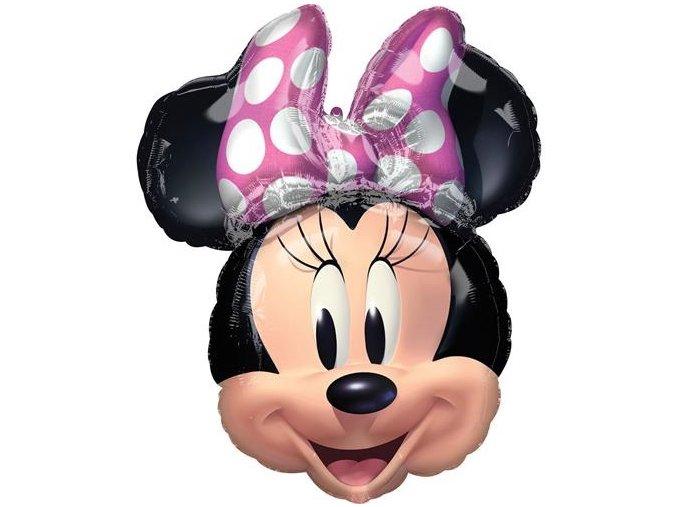 0013994 foliovy balonek hlava minnie mouse forever 53 x 66 cm