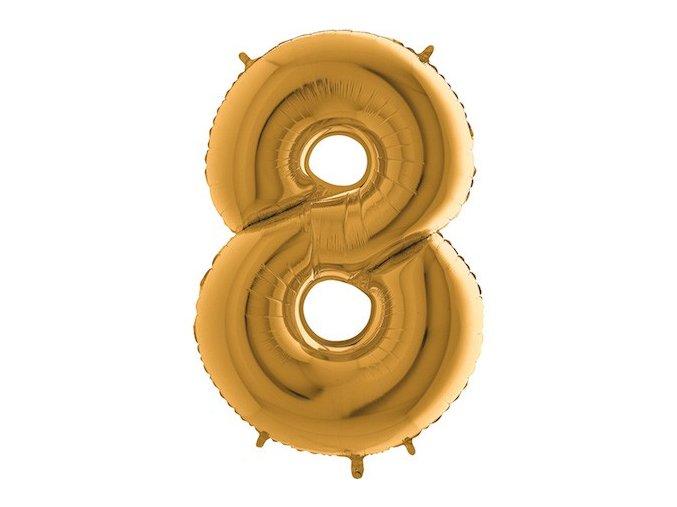Balon foliove cislo zlate 8