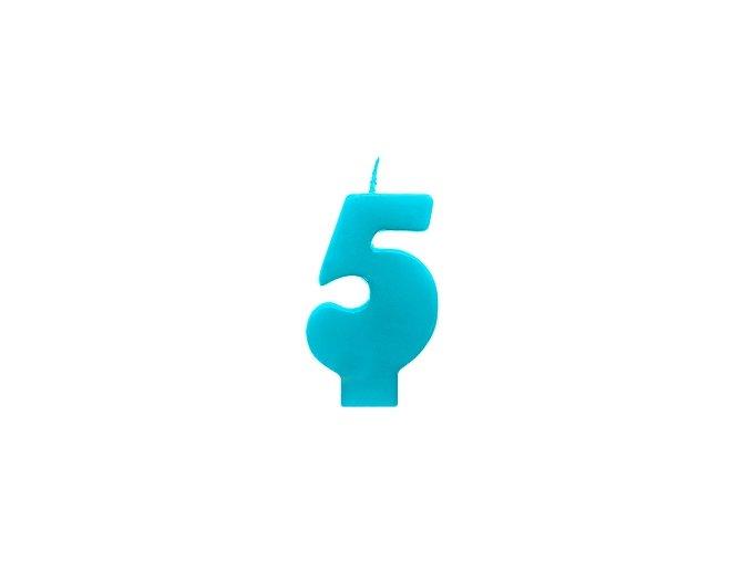 5 modrá