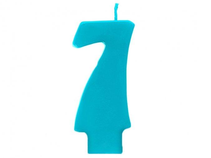 7 modrá