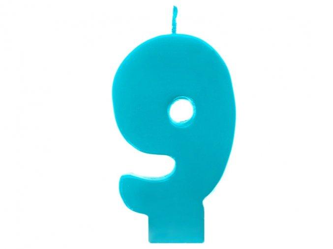 9 modrá