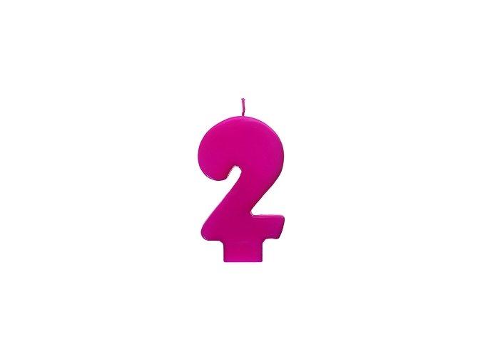 2 růžová