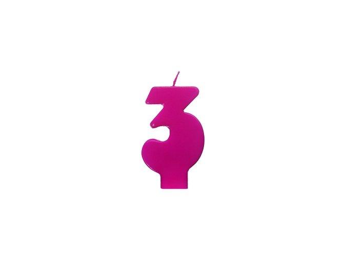 3 růžová