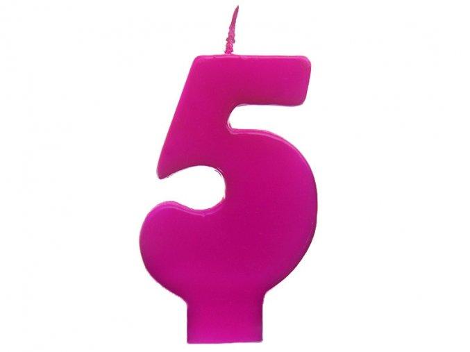 5 růžová
