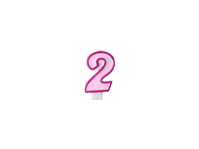 2 světle růžová