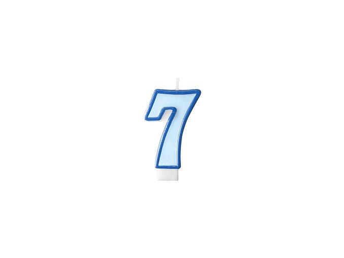 7 světle modrá