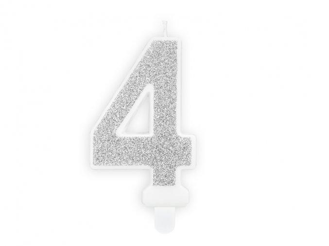 4 stříbrná