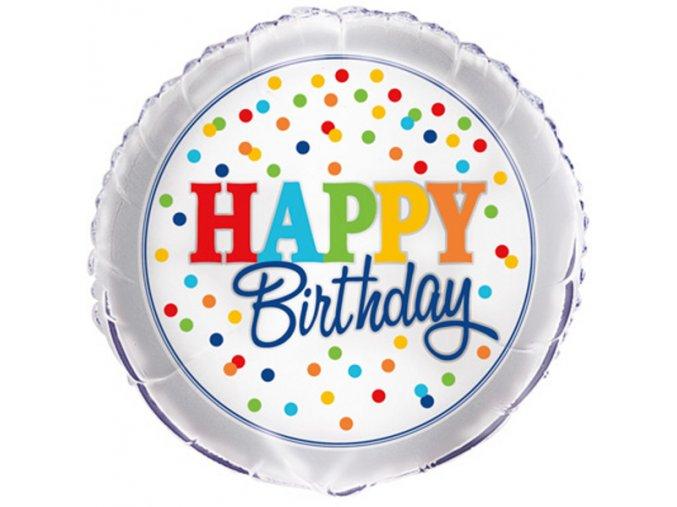Balonek foliovy Happy BDay Polka Dots 1058267