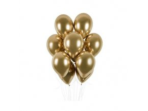 0008612 latexove balonky chrome zlate 33 cm 50 ks 510
