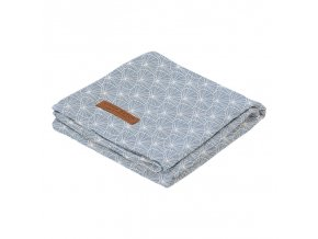 0009133 swaddle doek 120 x 120 lily leaves blue
