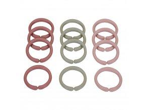 4960 Spojovací kroužky řetěz pink
