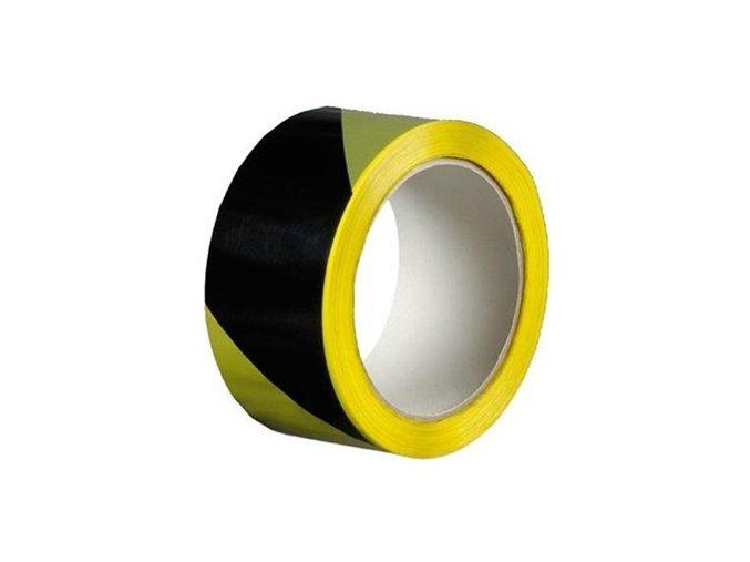 Výstražná páska z PVC žluto-černá